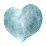 coração 3D feito do gelo ilustração do vetor