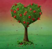 Coração da árvore ilustração royalty free