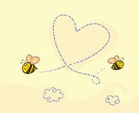 Coração da abelha ilustração stock