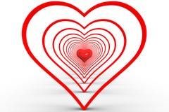 Coração da abstração Foto de Stock