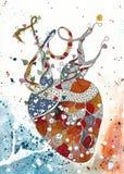 Coração da alegria colorido ilustração do vetor