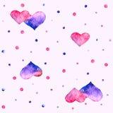 Coração da aquarela Fotografia de Stock