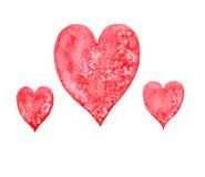 Coração da aquarela Foto de Stock Royalty Free