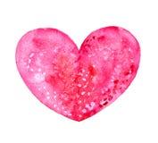 Coração da aquarela Fotos de Stock Royalty Free