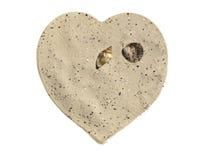 Coração da areia imagem de stock royalty free