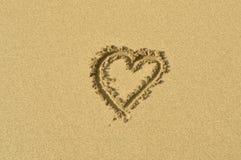 Coração da areia Foto de Stock