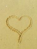 Coração da areia Imagens de Stock