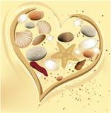 Coração da areia do feriado ilustração royalty free