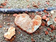 Coração da argila Fotografia de Stock
