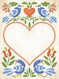 Coração da arte popular ilustração do vetor