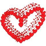 Coração da arte romântica romance romântica romance vermelha do coração dos corações do fundo artístico bonito ilustração do vetor