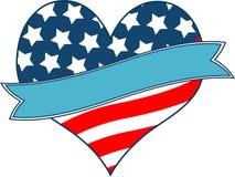 Coração da bandeira americana Foto de Stock