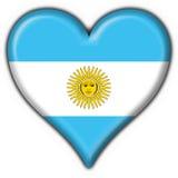 Coração da bandeira da tecla de Argentina Imagem de Stock