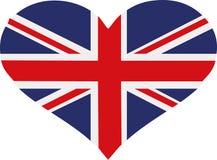 Coração da bandeira de Reino Unido ilustração royalty free