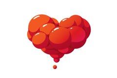 Coração da bolha Imagens de Stock