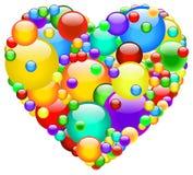 Coração da bolha ilustração do vetor