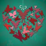 Coração da borboleta Foto de Stock Royalty Free
