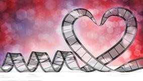 Coração da celuloide Fotografia de Stock Royalty Free