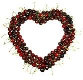 Coração da cereja Fotos de Stock Royalty Free