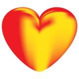 Coração da chama Imagem de Stock