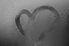 Coração da chuva Fotografia de Stock