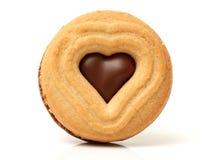 Coração da cookie do biscoito dado forma Fotografia de Stock Royalty Free