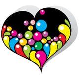 Coração da cor Fotografia de Stock