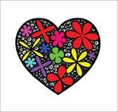 Coração da cor de Zentangle Foto de Stock