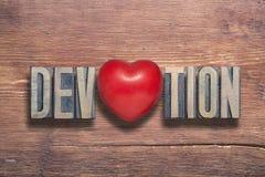 Coração da devoção de madeira fotografia de stock
