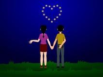 Coração da estrela ilustração do vetor