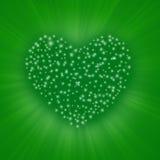 Coração da estrela fotografia de stock
