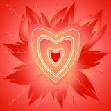 Coração da flama ilustração stock
