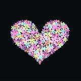 Coração da flor Foto de Stock Royalty Free