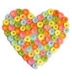 Coração da flor fotos de stock royalty free
