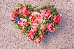 Coração da flor Fotografia de Stock
