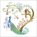 Coração da flor ilustração do vetor
