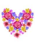 Coração da flor ilustração stock
