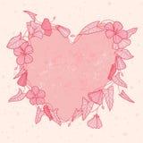 Coração da flor Fotografia de Stock Royalty Free