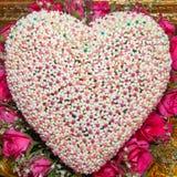 coração da flor dado forma fotografia de stock royalty free
