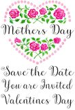 Coração da flor do dia de mães fotos de stock royalty free