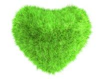 Coração da grama Fotografia de Stock Royalty Free