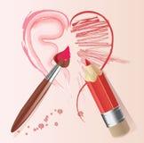 Coração da história de amor Imagens de Stock Royalty Free