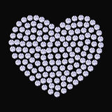 Coração da joia dos cristais e das pedras preciosas Imagens de Stock Royalty Free