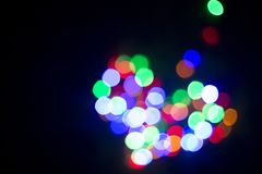 Coração da luz lâmpadas Fora de foco Fotografia de Stock Royalty Free