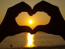 Coração da mão Fotografia de Stock