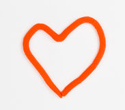 Coração da massa de modelar Foto de Stock Royalty Free