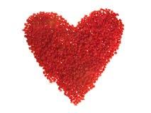 Coração da microplaqueta da cereja (isolado) fotografia de stock
