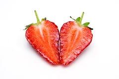 Coração da morango imagens de stock