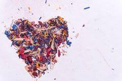coração da Multi-cor fotografia de stock