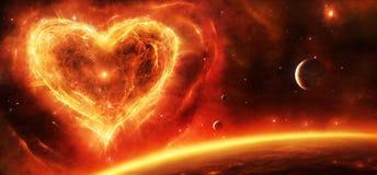 Coração da nebulosa da supernova ilustração do vetor
